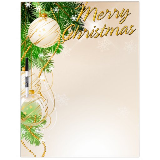 Merry Christmas 24 Erase Board Options Dry-Erase Whiteboards