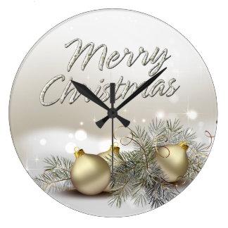 Merry Christmas 25 Wall Clock Options