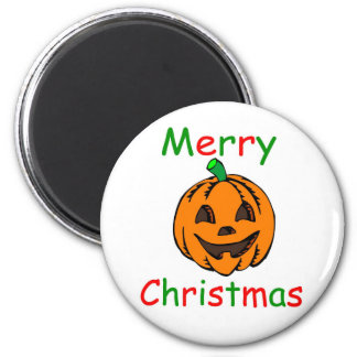 Merry Christmas 2 Inch Round Magnet