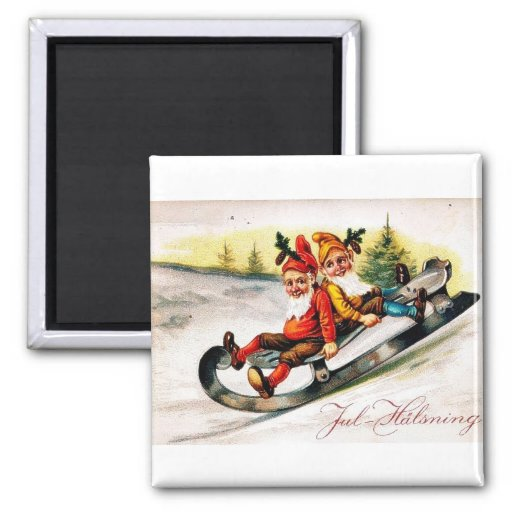 Merry Christmas 2 Inch Square Magnet