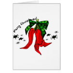 merry christmas 2 red pepper design stationery note card