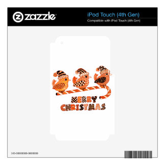Merry Christmas 2 Skins For iPod Touch 4G