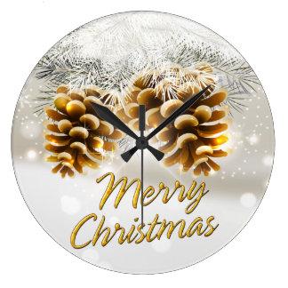 Merry Christmas 34 Wall Clock Options