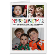 Merry Christmas 3  photo Holiday Card Personalized