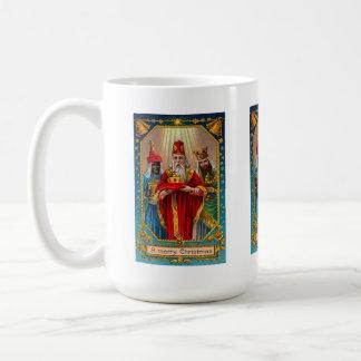 Merry Christmas 3 Wise Men Vintage Coffee Mug