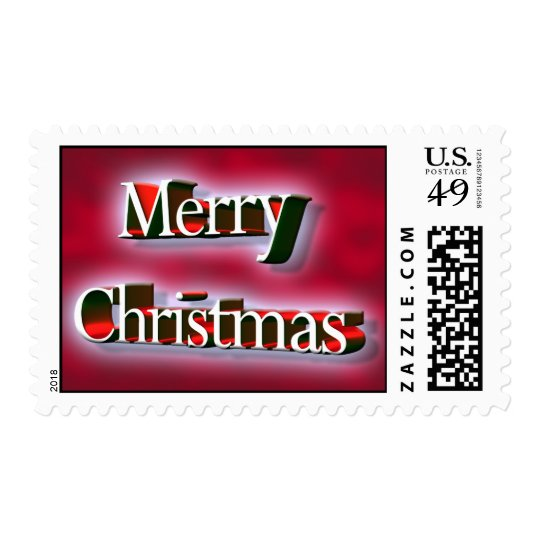 Merry Christmas 3D Font Stamp