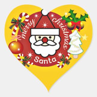 Merry Christmas#4_ Heart Sticker