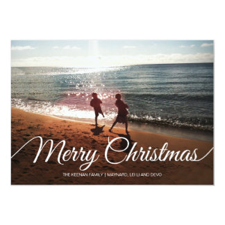 Merry Christmas | 4 photos | 7x5 5x7 Paper Invitation Card