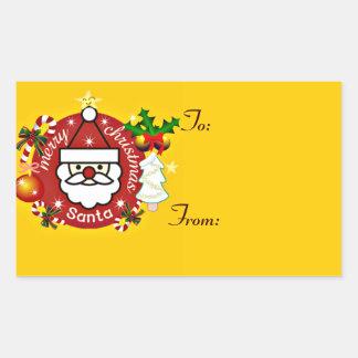 Merry Christmas#4_ Rectangular Sticker