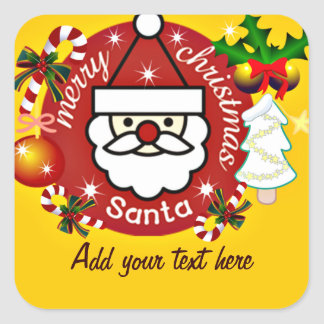 Merry Christmas#4_ Square Sticker