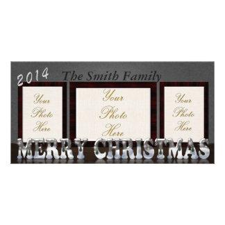 "Merry Christmas 4"" x 8"" photo card"