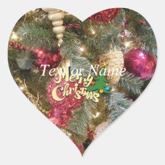 merry christmas 5152 heart sticker