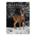 "MERRY CHRISTMAS 5 5"" X 7"" INVITATION CARD"
