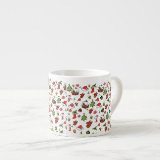 Merry Christmas 6 Oz Ceramic Espresso Cup