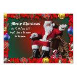 "MERRY CHRISTMAS 9 5"" X 7"" INVITATION CARD"