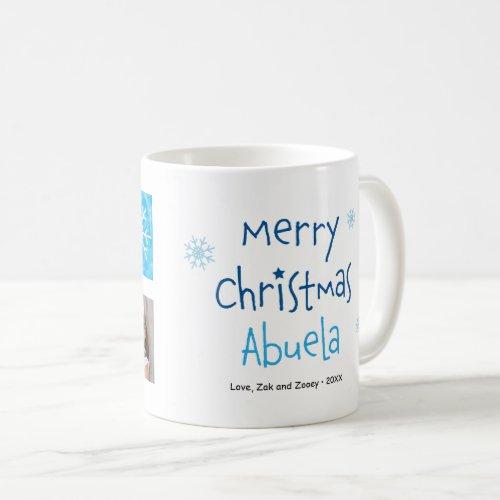 Merry Christmas Abuela 2 Photo Custom Mug