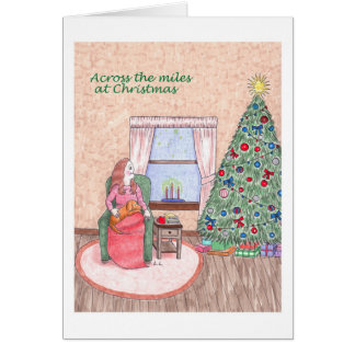 Merry Christmas Across the Miles Greeting Card