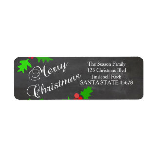 Merry Christmas address Label