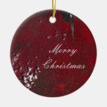 Merry Christmas Aerial Landscape Ornament
