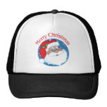 Merry Christmas African American Santa Mesh Hat