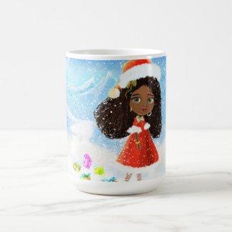 Merry Christmas African Doll Mug
