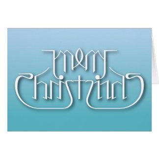 Merry Christmas Ambigram Card