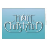 Merry Christmas Ambigram Greeting Card