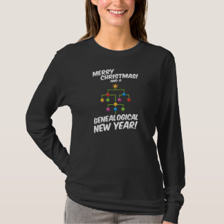 Merry Christmas and a Genealogical New Year! T-Shirt