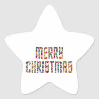 MERRY Christmas and a HAPPY NEW YEAR 2014 Star Sticker
