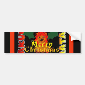 Merry Christmas and a Happy New Year Bumper Sticker