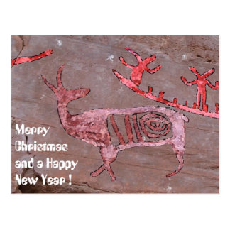 Merry Christmas and a Happy New Year Postcard