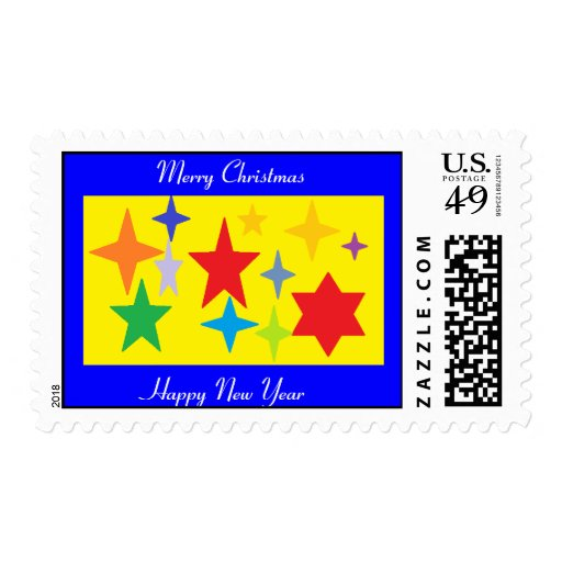 Merry Christmas and a Joyous New Year Stamp