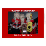 Merry Christmas, And All That Jazz Greeting Cards