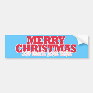 """Merry Christmas"" and Good Tidings in Red Bumper Sticker"