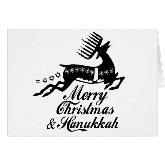 Merry Christmas and Hanukkah Card