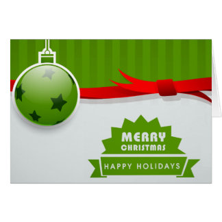 Merry Christmas and Happy Holidays Card