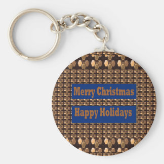 Merry Christmas and Happy Holidays TEMPLATE Keychain