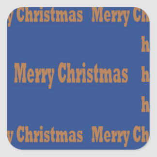 Merry Christmas and Happy Holidays TEMPLATE Square Sticker