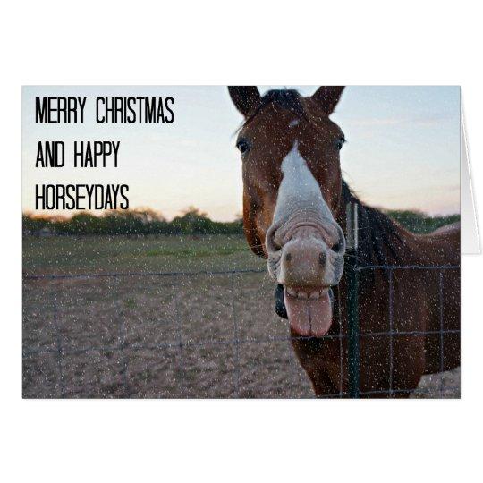 Merry Christmas and Happy Horseydays Card