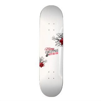 Merry Christmas and happy new to year Skateboard