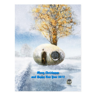 Merry Christmas and Happy New Year 2013 Postcard