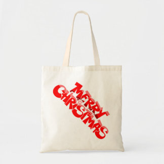 merry christmas and happy new year canvas bags