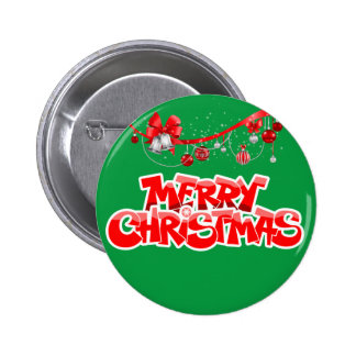 merry christmas and happy new year 2 inch round button