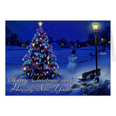 Merry Christmas And Happy New Year Card at Zazzle