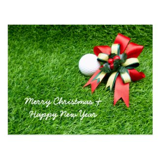 Merry Christmas and Happy New Year Card to golfer