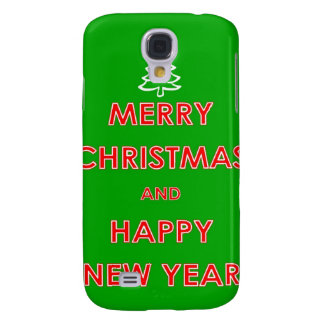 Merry Christmas and Happy New Year Galaxy S4 Cases