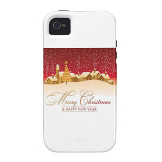 Merry Christmas and Happy New Year Vibe iPhone 4 Cases