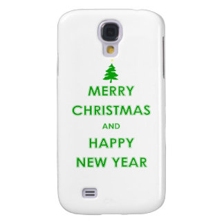 Merry Christmas and Happy New Year Samsung Galaxy S4 Covers