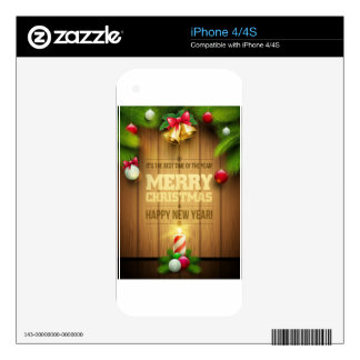 Merry Christmas and happy new year free Skins For The iPhone 4