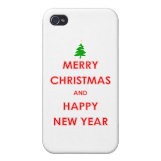 Merry Christmas and Happy New Year iPhone 4/4S Case